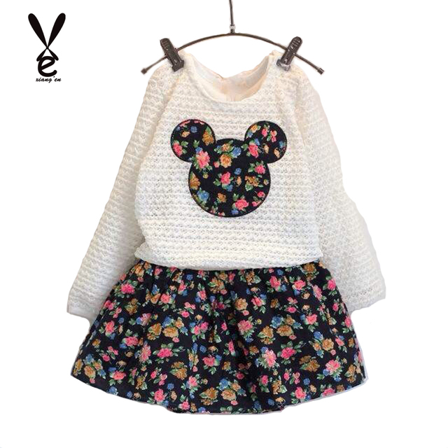 Note Clearance Sale Autumn Girls Clothing Sets Flower