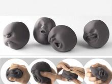 F13082/3 4pcs/set Vent Human Face Ball Anti-stress Ball of Japanese Design Cao Maru Caomaru White Funny Decompression Toy Gift(China (Mainland))