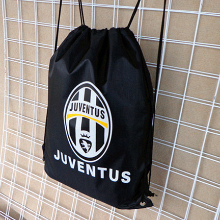 Juventus fans supplies soccer memorabilia dedicated football training shoe bags Drawstring Backpack(China (Mainland))