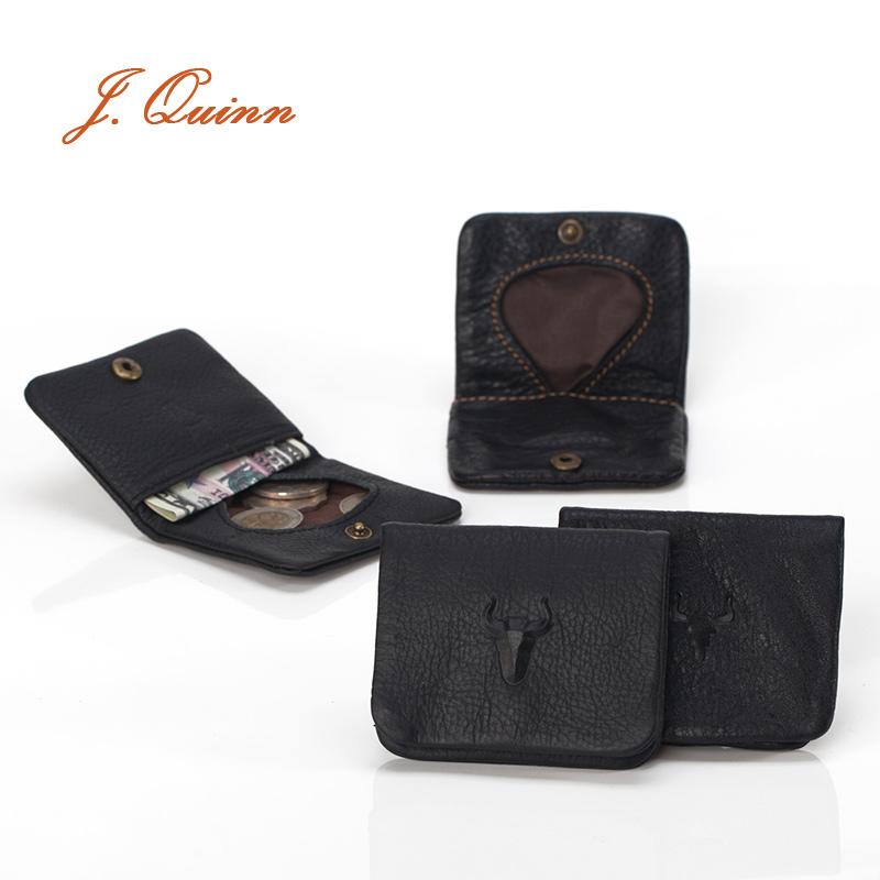 J.Quinn Coin Purse Mini Cute Small Girls Coins Wallet Genuine Leather Thin Women Bag Heart Black Hasp Casual Kids Purses(China (Mainland))