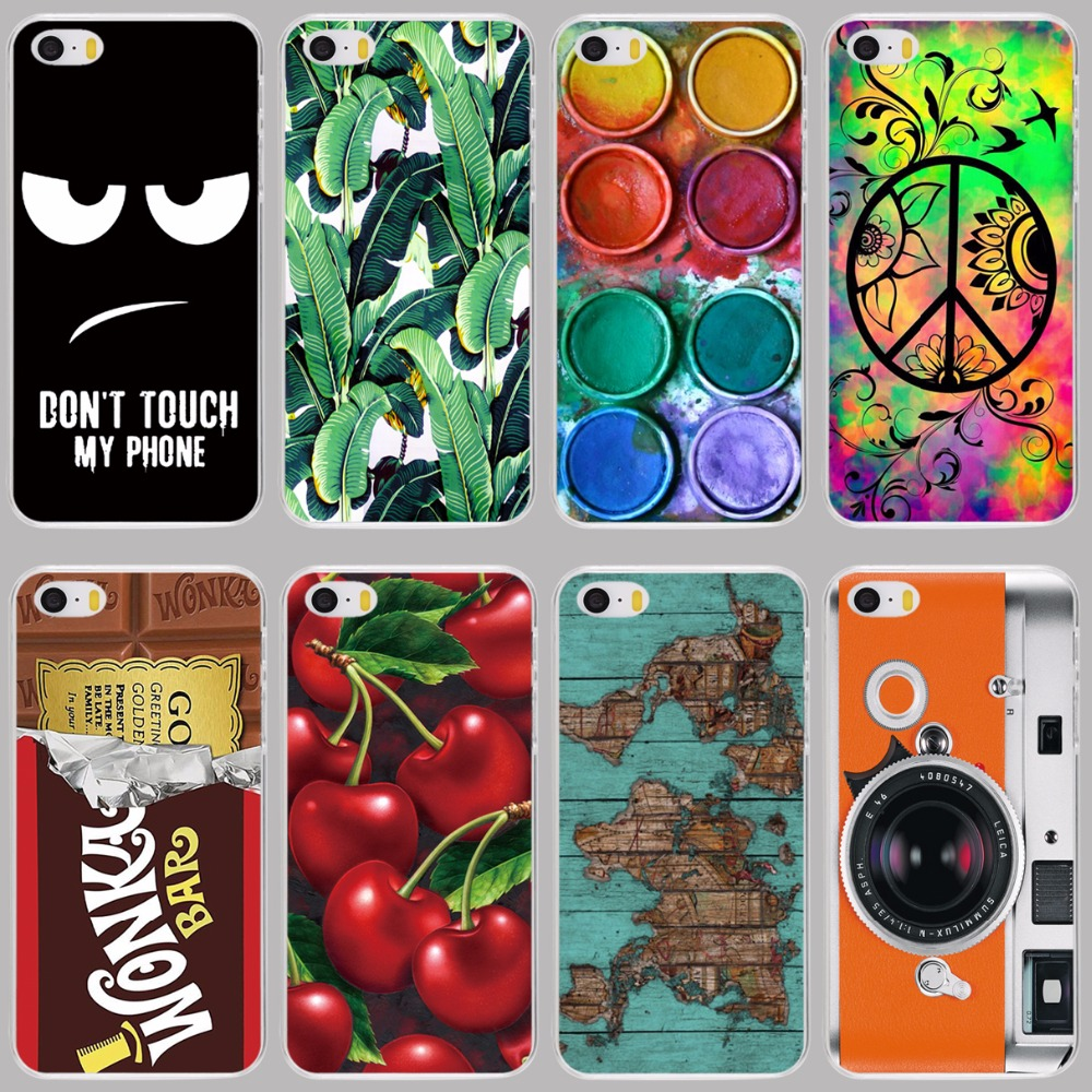 camera cherry chocolate banana leaves egg owl cell phone Cover Case for Apple iPhone 4 4S 5 5S 5C SE 6 6S 7 Plus(China (Mainland))