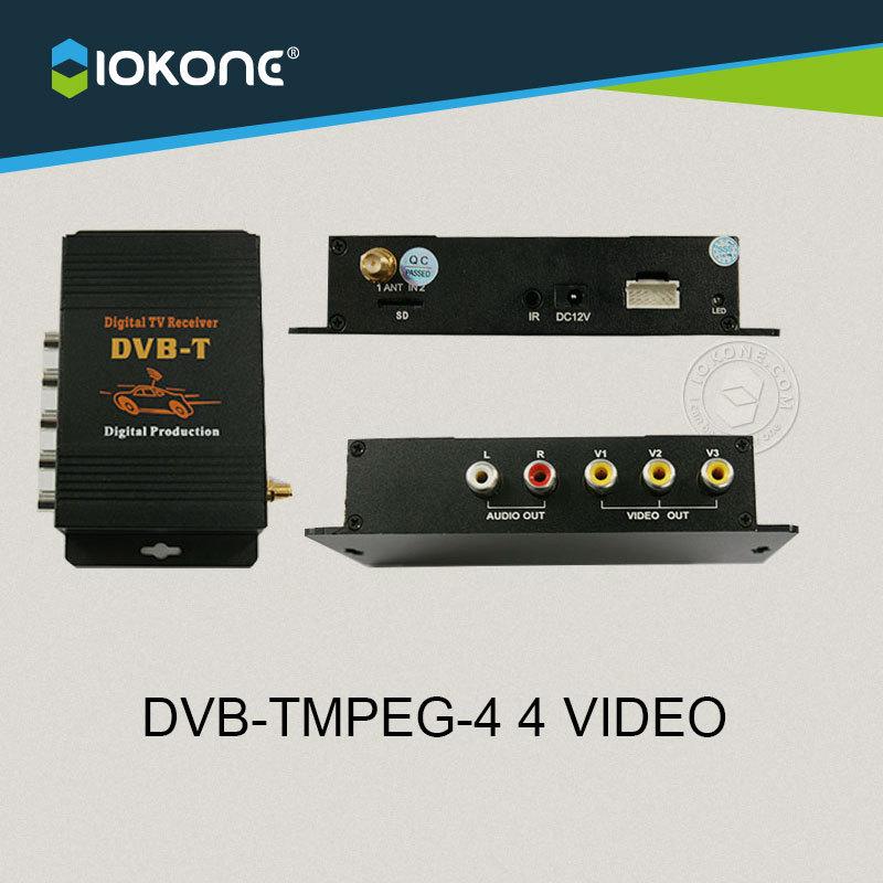New Arrival !!! Car MPEG-4 DVB-T digital TV receiver box set top box(China (Mainland))