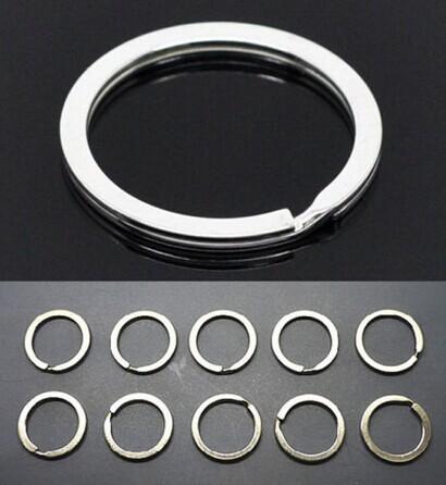 10 шт./компл. из нержавеющей стали металлические держатель сплит кольца Keyring брелок ...