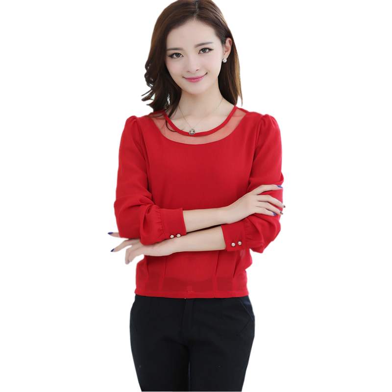 women tops and blouses 2015 new fashion long sleeve ...