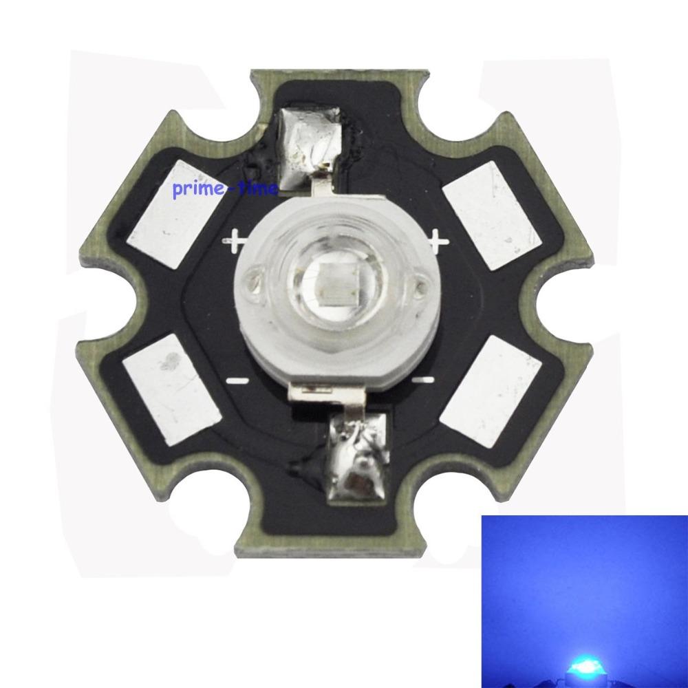 10PCS 3W Royal Blue 450-455NM High Power LED Emitter 700mA with 20mm Star Base for Plant Grow/Aquarium(China (Mainland))