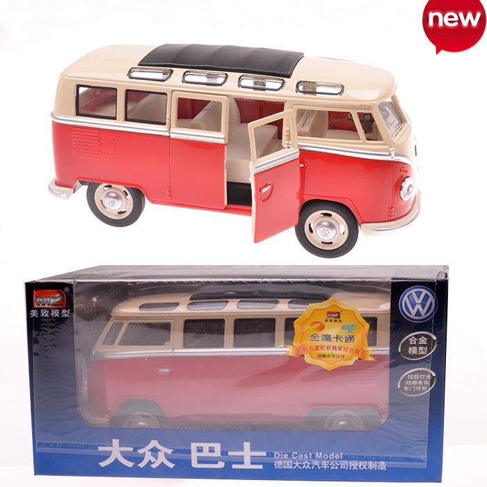 Hot Sale volkswagen VW Mini bus 1:24 Alloy Diecast Models Car Toy Collection For Boy Children As Gift brinquedos meninas toys(China (Mainland))