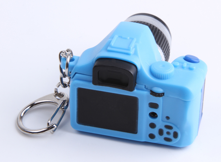 New Chic Cute Mini Camera Toy Car Keychain With Flash Light And Sound Color Random Festival Gift Wholesale KEY-0105(China (Mainland))