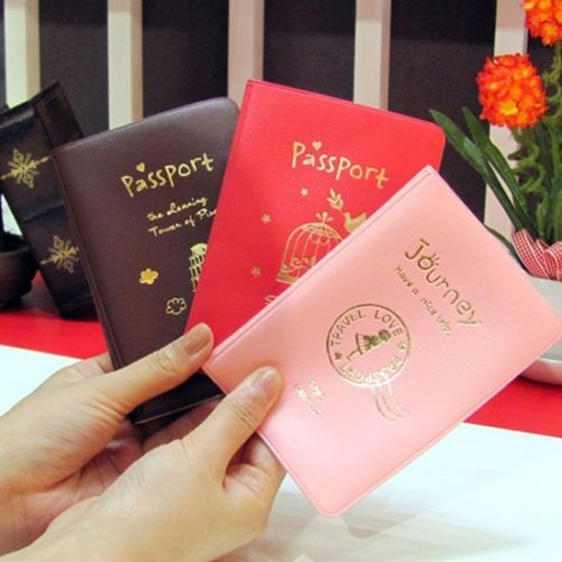 2014 Simple Travel ID Document Holder Utility Pu Leather Passport Cover 3Colors