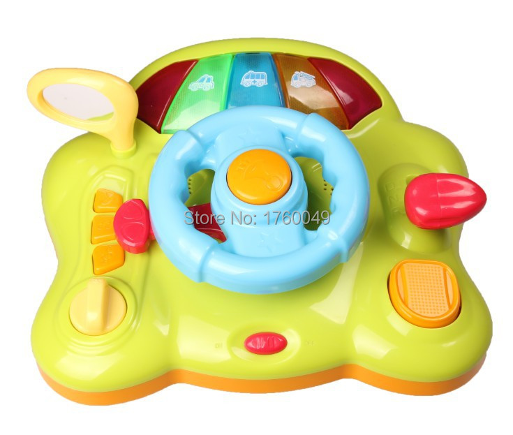 Simulation Car Steering Wheel toy musical Electronic Backseat Driver Classic Educational Toy kids gift(China (Mainland))