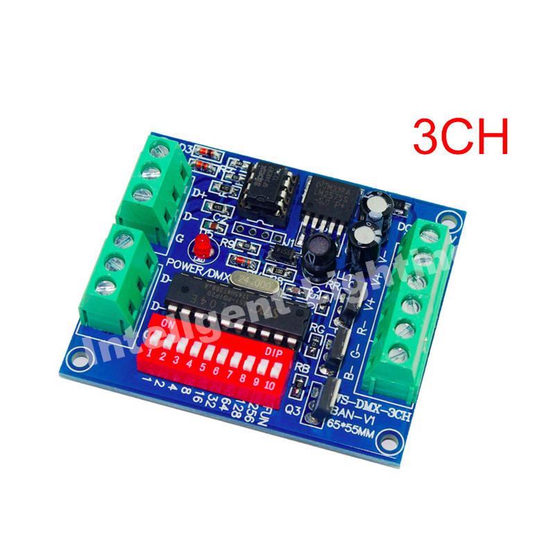 3CH Easy dmx Controller, RGB LED dmx512 dimmer, LED DMX512 decoder for led strip(China (Mainland))