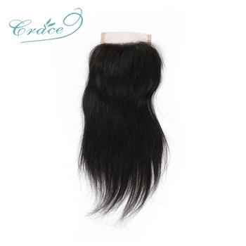 Brazilian lace closure 4*4 Brazilian virgin hair closure Brazilian Straight middle part free part 2 options 10 to 24 inch