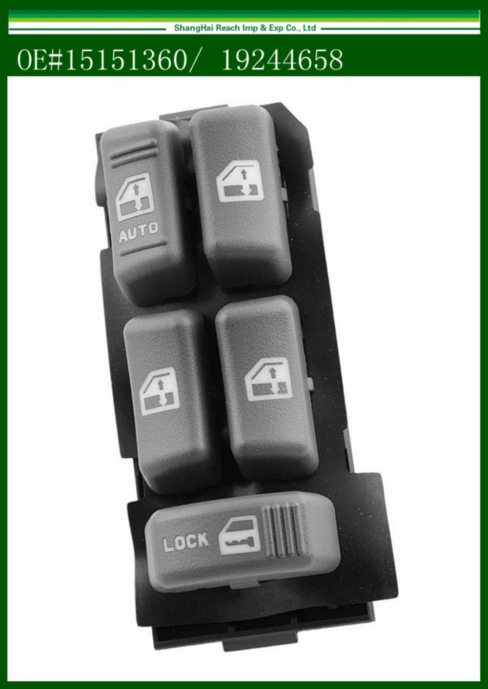 Truck Electric Power Window Master Switch for 1995-2005 GMC Chevrolet Cadillac OE#15151360/ 19244658(China (Mainland))