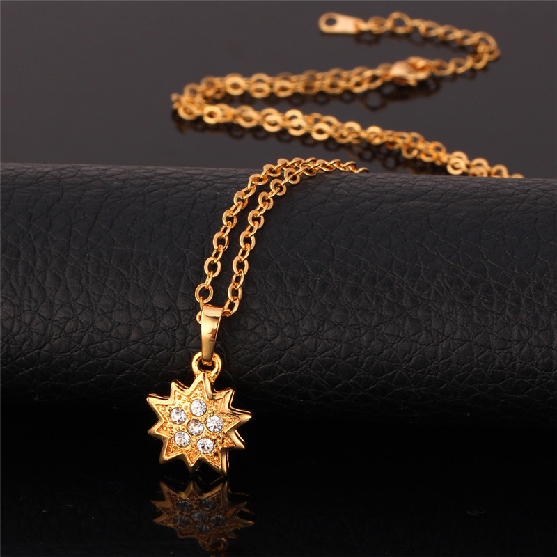 Gold Pendants Necklace Women Jewelry 18K Real Gold / Platinum Plated Trendy Gift For Wife Crystal Necklaces Vintage Pendant P109(China (Mainland))