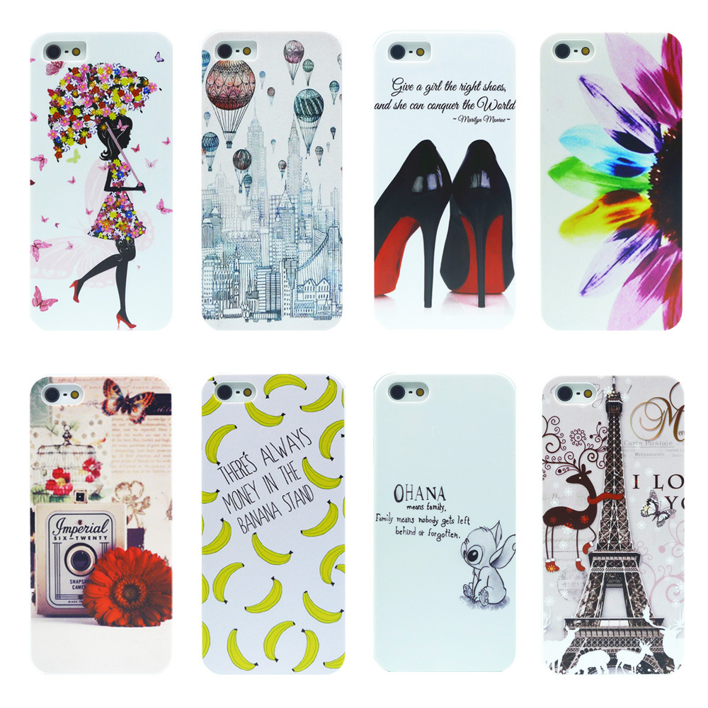 iPhone 5s Case Luxury Painted Design White Cases Cover Apple phone 5 5S SE Phone Back Hard pc Coque Fundas - Shenzhen RYG group co., LTD store