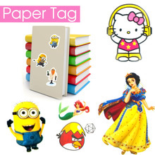 Cartoon Sticker Adhesive Paper Paster Tag Maker Hello Kitty Doll Scrapbook Style Novelty School Office Cute Book Stationery Kid(China (Mainland))