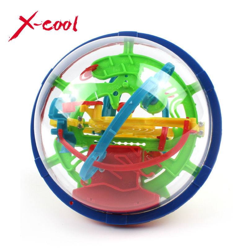 XC929A 2015 New Magic Puzzle Ball Educational Magic Intellect Ball Puzzle Game Magnetic Balls for Kids-100 Steps(China (Mainland))