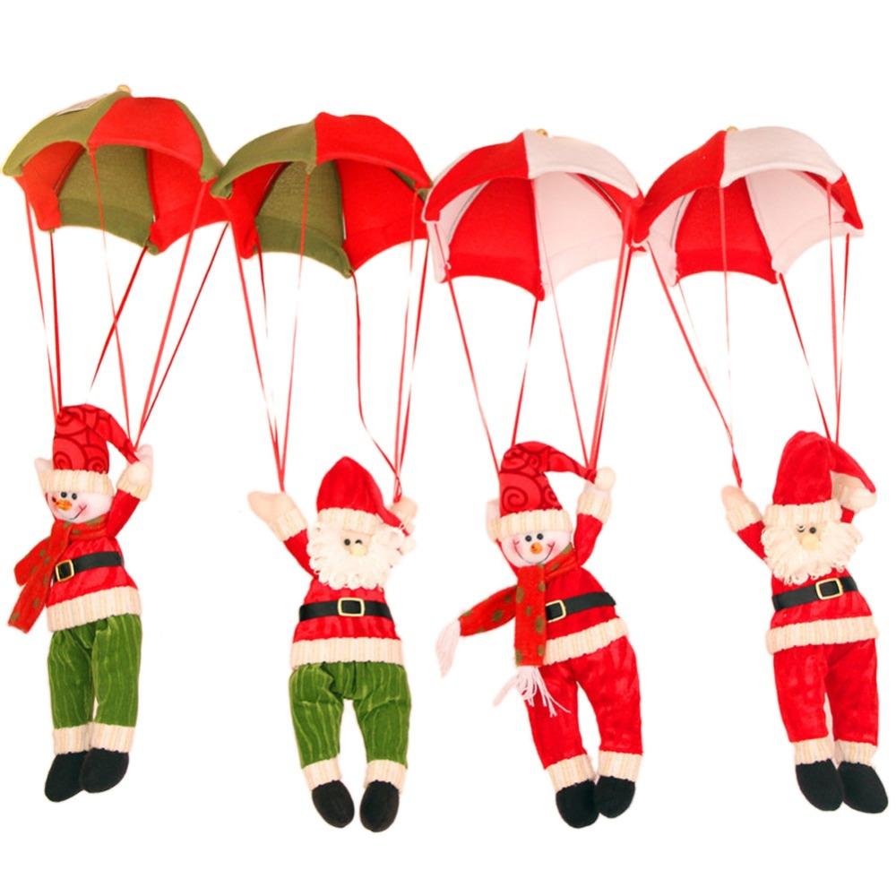 Free Shipping Snowman Decoration Ornament Home Decor Parachute Santa Claus Doll Pendant Christmas Toys(China (Mainland))