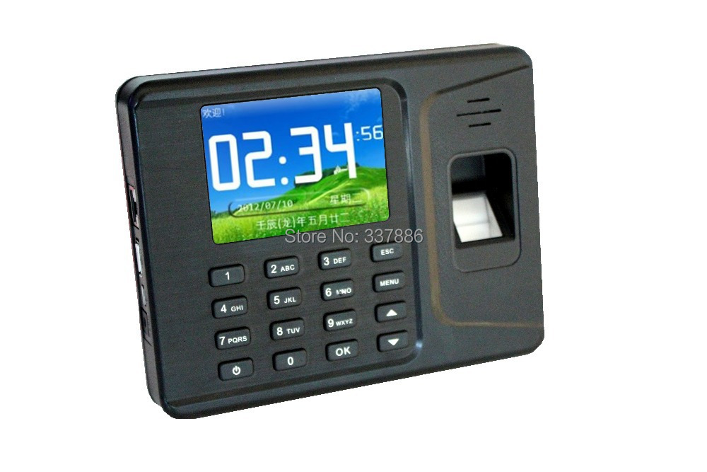 2.8 inches Color Screen Password/ID card fingerprint scanner time recorders with USB(China (Mainland))