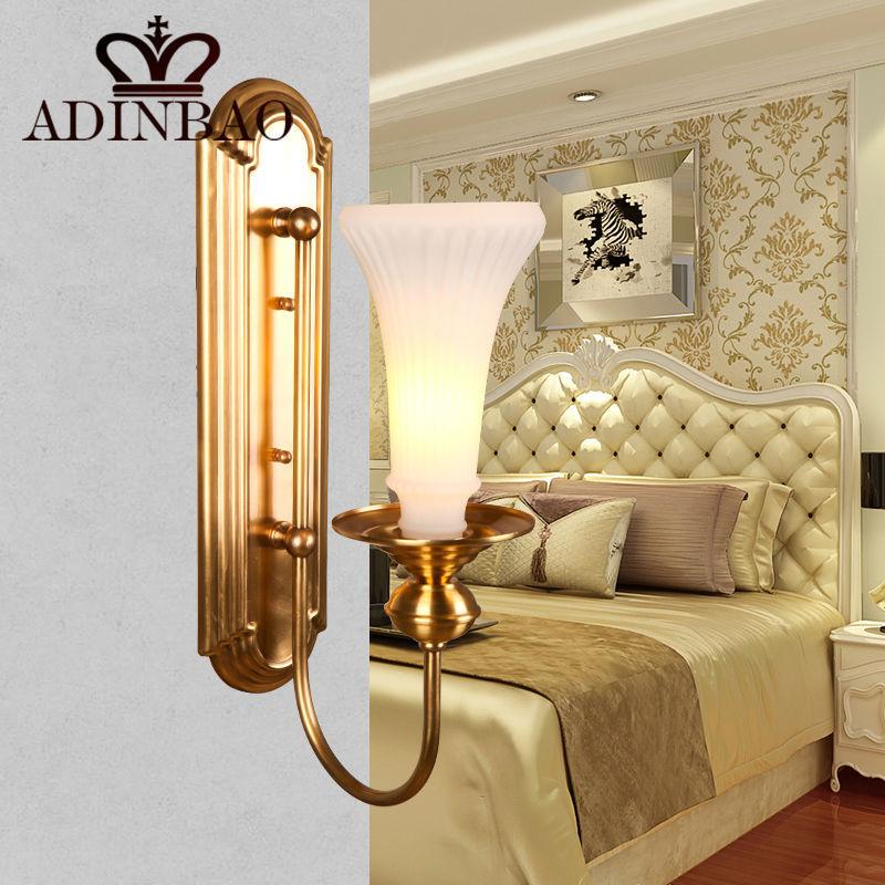 Aliexpress.com : Buy Classical Golden Brass Wall Lamp Indoor Wall Sconce Lighting Trumpet Shape ...
