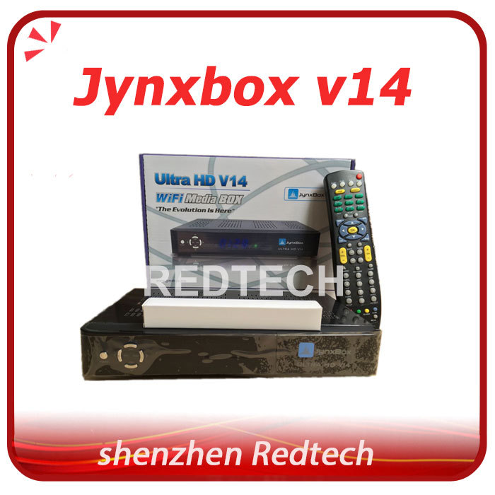 Jynxbox ultra hd v14 North America Satellite Receiver HD wifi with jb200 8psk module with Remote Control DHL Free Shipping(China (Mainland))