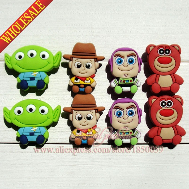 100pcs Toy Story 3 cartoon pvc shoe charms shoe decorate shoe accessories for kid birthday gifts(China (Mainland))