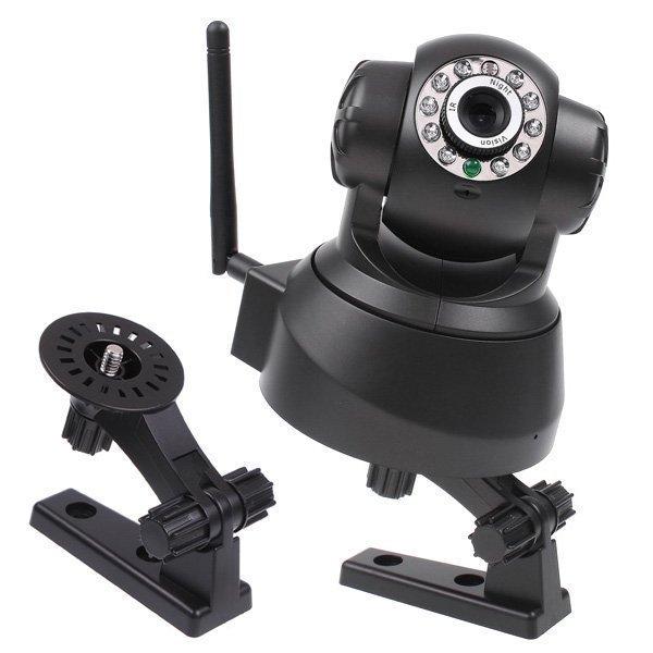 New Black Night Vision 720P 1.0 MegaPixel/MP IR Webcam Web CCTV Camera WiFi Wireless IP Camera Pan Tilt , P2P, Free Shipping<br><br>Aliexpress