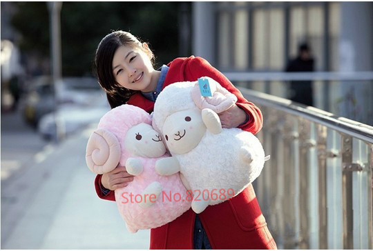 Free shipping cosplay giant ty plush animals 40cm Cartoon lamb sheep doll baby alpaca wool toy Christmas gift(China (Mainland))