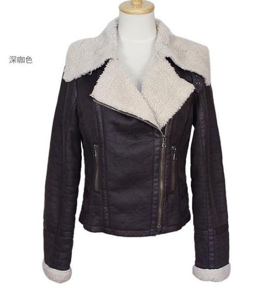 Womens Leather Sheepskin Jacket ZwPwA3