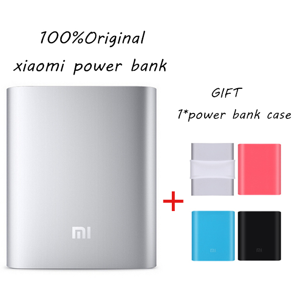 100%Original authentic xiaomi 10400MAH power bank For iPhone 4S 5S S5 S6 6 plus htc huawei ipad +Free power bank case(China (Mainland))