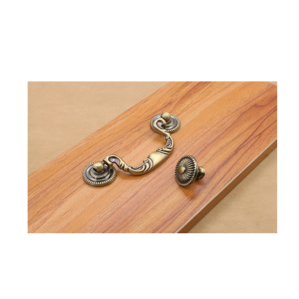 Vintage Coffee Cabinet Knobs and Handles Classical Gold Rose Drawer Pulls Retro Furniture Fittings(China (Mainland))