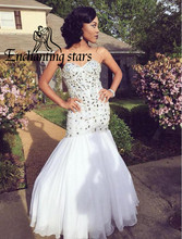 2016 Crystals Luxury New Evening Dresses Sexy Mermaid Sweetheart Major Beading Fashion Special Lady Prom Dress Gowns Gorgeous(China (Mainland))
