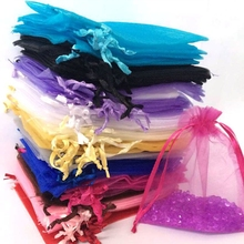 Wedding Decoration Organza Bag 100pcs 7x9 10x12cm Favor Jewelry Packaging Goodie Gifts Pouch Drawing For Party Candy Bag Display(China (Mainland))