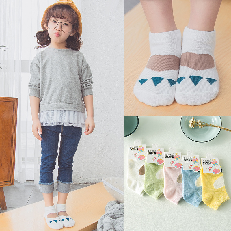 5 Pairs Factory Direct Hot Sale Wholesale Brand 2-9Y Korea Boys Girls Toddler Cotton Ankle Socks Kids Short Socks(China (Mainland))