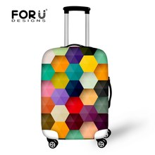 Fashion Design Elastic Waterproof Luggage Protective Dust Cover for 24'' 28'' Trolley Suitcase Travel Accessories Cover Bags(China (Mainland))
