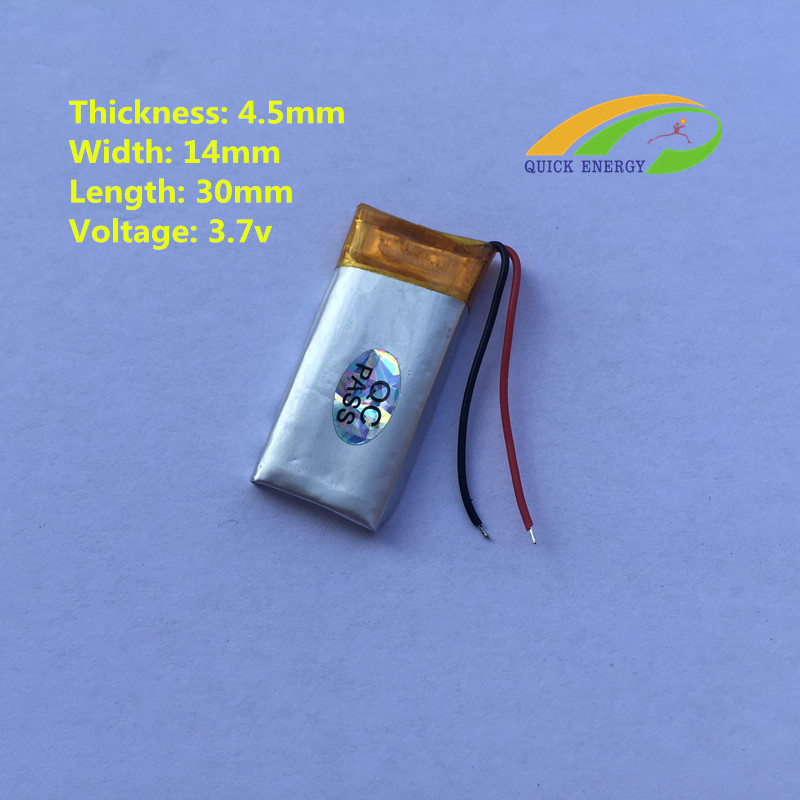 451430 new promotion small 3.7v 135mah lithium polymer battery for bluetooth blood pressure meter CL(China (Mainland))