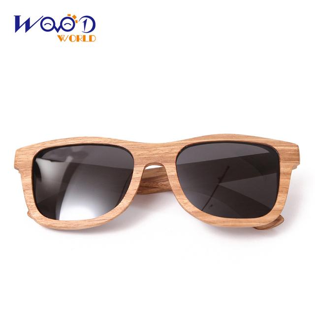 wooden bamboo sunglasses zebra wood sunglasses free Shipping