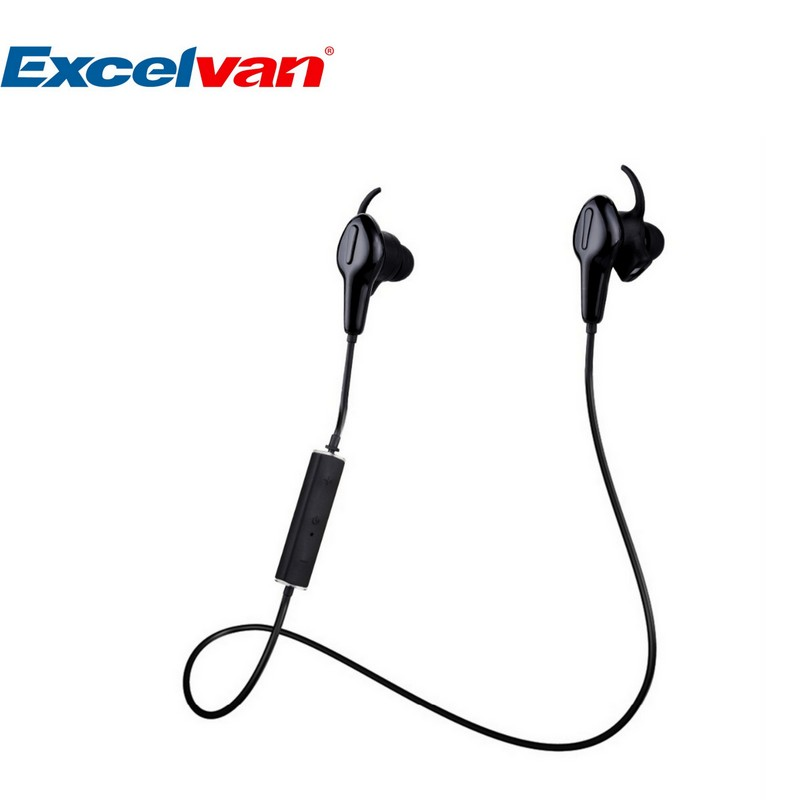 Bluetooth Earphone Wireless Excelvan APP WaterProof In-ear Headset Smart Heart Rate and Pedometer HiFi Stereo Sound Earphone(China (Mainland))