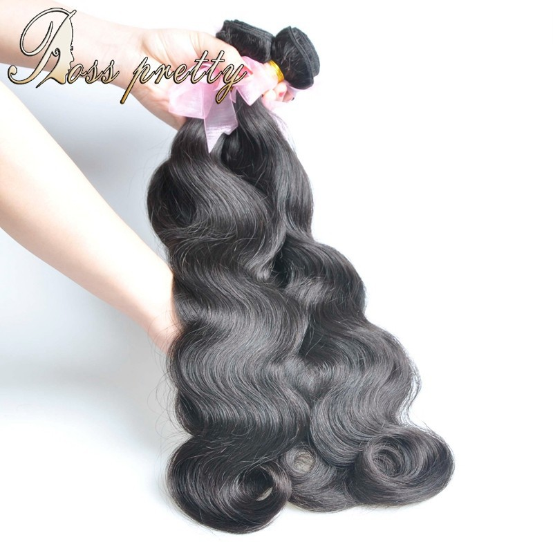 6a Unprocessed Virgin Hair Cheap Human Hair Extensions Peruvian Virgin Hair Body Wave Peruvian Body Wave 3pcs Lot DHLFree Shipp