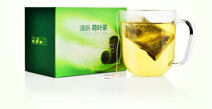 Slimming lotus leaf tea - pure natural lotus leaf tea - herbal tea - tea bags - buy three boxes containing Cassia gift a box(China (Mainland))