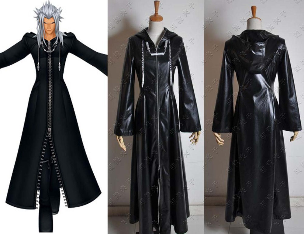 LL-Y High Quality Custom-made Organization XIII Kingdom Hearts 2 Cosplay Costume In Black Faux LeatherОдежда и ак�е��уары<br><br><br>Aliexpress