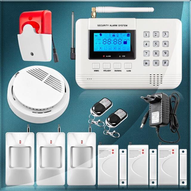 Nuovo 99 zone pstn telefono fisso senza fili antifurto di - Allarme casa senza fili fai da te ...