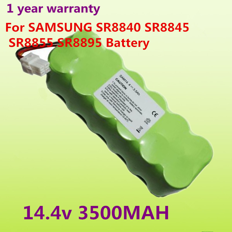14.4V 3.5Ah NI-MH Battery Pack For Samsung NaviBot SR88XX Series Vacuum Cleaner SR8840 SR8845 SR8855 SR8895 VCA-RBT20 Battery(China (Mainland))