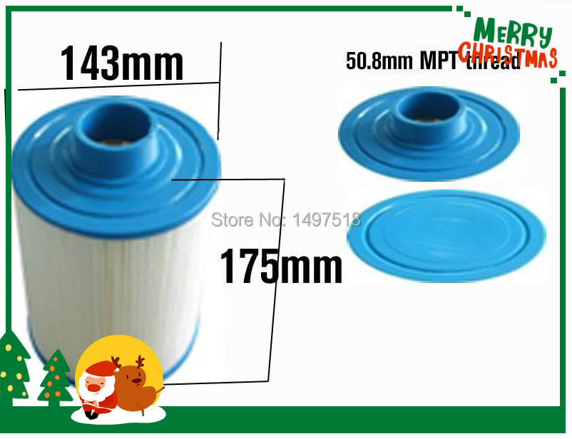 "hot tub spa filter size 6 7/8""x5 5/8"" ( 2"" ) MPT thread for jazzi spa and others(China (Mainland))"