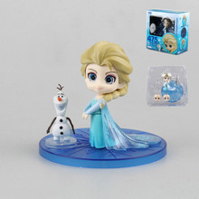 10CM Q Style Nendoroid Snow Queen Elsa PVC Collection Action Figure Children Cartoon Model Doll Toys Cute Gifts for Kids