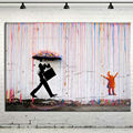 Modern Coloring Painting Banksy Oil Painting On Canvas Rain Wall Pictures for Living Room Home Decoration