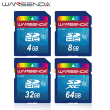 100% Real Capacity WANSENDA SD Card 32GB 64GB Memory Card 16GB 8GB 4GB SDHC SDXC Flash Memory Card H2testw Test(China (Mainland))