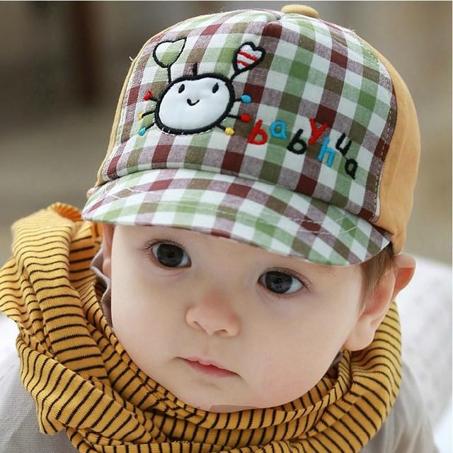 Супер мило! Мультфильм краб грид-дизайна детские Hat детские зажигания для мальчик ...