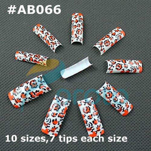 Freeshipping--Retails airbrush pre design false nail tips designer french nail art tips acrylic nails,70 tips package AB066