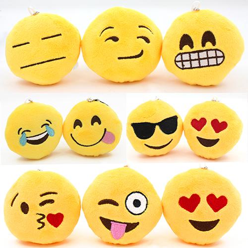 Bluelans Мягкая Emoji Смайлик Смайлик Кулон Желтый Круглый Плюшевые Игрушки Куклы Украшения Идеальный Подарок