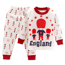 Jirong children underwear suits in the spring and autumn cotton baby boys girls pajamas autumn suit children household to take(China (Mainland))